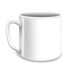 white big cup vector image