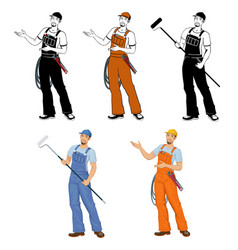 worker in uniform vector image
