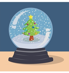 Xmas Tree Snow Ball vector
