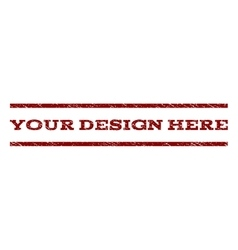 Your Design Here Watermark Stamp vector