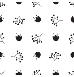Black and white abstract pattern vector image vector image