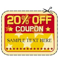 Coupon twelve percent discount vector