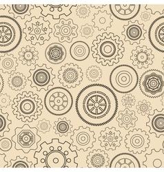 Seamless gear wheels pattern vector image vector image
