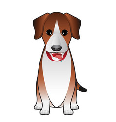 dog terrier sitting vector image vector image
