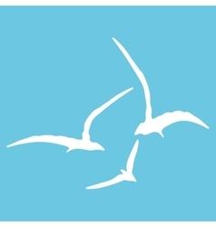 Gull sign pattern vector