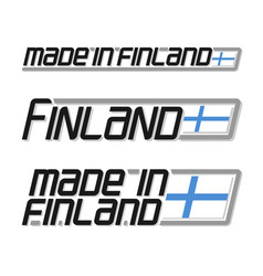 made in finland vector image
