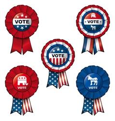 Ribbon Vote vector image