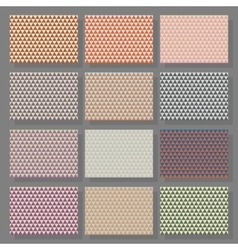 Set of many colorful triangular background vector