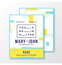 Wedding Event Party Invitation Card or Poster vector image vector image