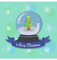 Christmas Tree Snowball Snowflakes vector image vector image