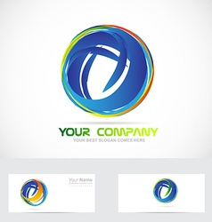 Circle sphere abstract business logo vector