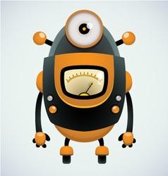 cute retro robot vector image vector image