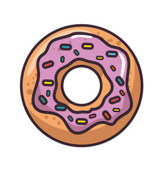 isolated cute doughnut vector image vector image