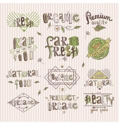 Natural food label vector image