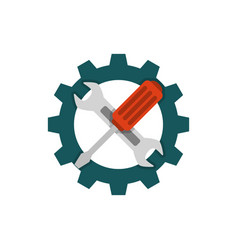 technical support flat icon vector image vector image