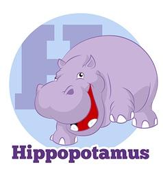 ABC Cartoon Hippopotamus3 vector image