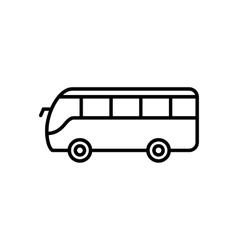 Bus line icon vector image