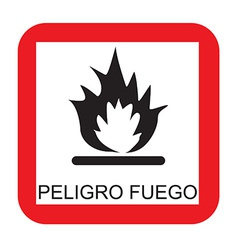 Fire risk sign vector image