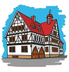 house Germany vector image