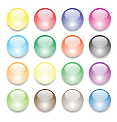 set of balls vector image vector image