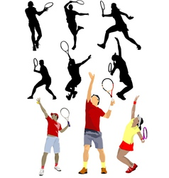 6120 tennis set vector