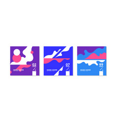 a set music covers with abstract elements in a vector image
