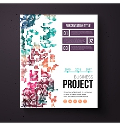 Abstract design template for a business project vector image