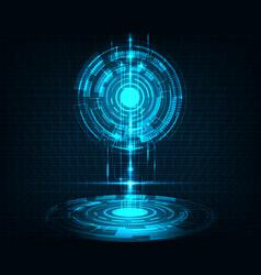 abstract futuristic transfer digital data network vector image