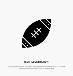 American ball football nfl rugsolid glyph icon vector