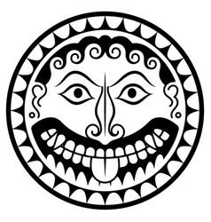 ancient greece shield with gorgon medusa head vector image
