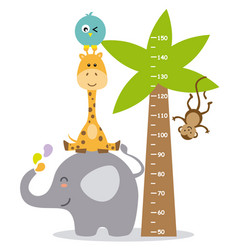 Animal wall meter vector