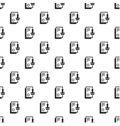 approved stamp pattern seamless vector image