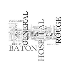 Baton rouge general hospital text word cloud vector