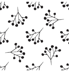 Black and white hand drawn abstract pattern vector image