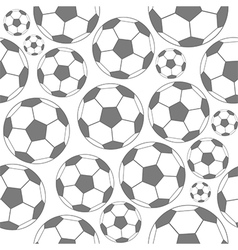 Black and white soccer seamless pattern vector image