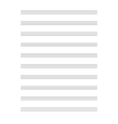 blank sheet music sheet for the notation vector image