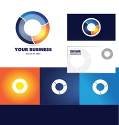 Business colors circle logo icon vector