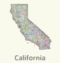 California line art map vector