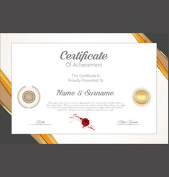 Certificate or diploma modern design template 6307 vector