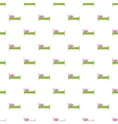Children bed pattern cartoon style vector
