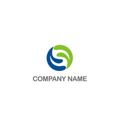 circle ecology company logo vector image