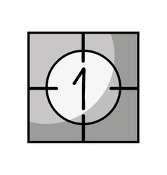 Counter film isolated icon vector