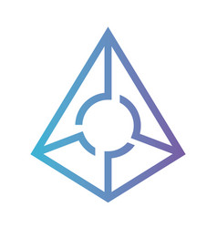 cryptocurrency augur symbol isolated icon vector image