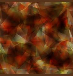 dark orange gradient triangle mosaic template vector image