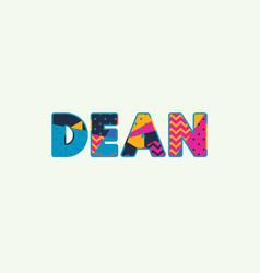 Dean concept word art vector