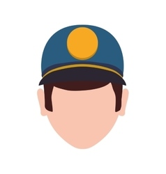 Delivery man hat shipping logistic icon vector