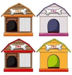 Different designs of doghouses vector