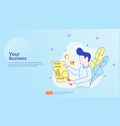 Digital analysis concept for business market vector
