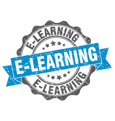 E-learning stamp sign seal vector