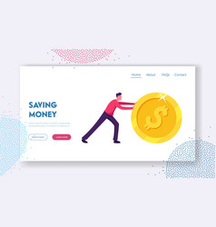 earning saving and investing money website vector image